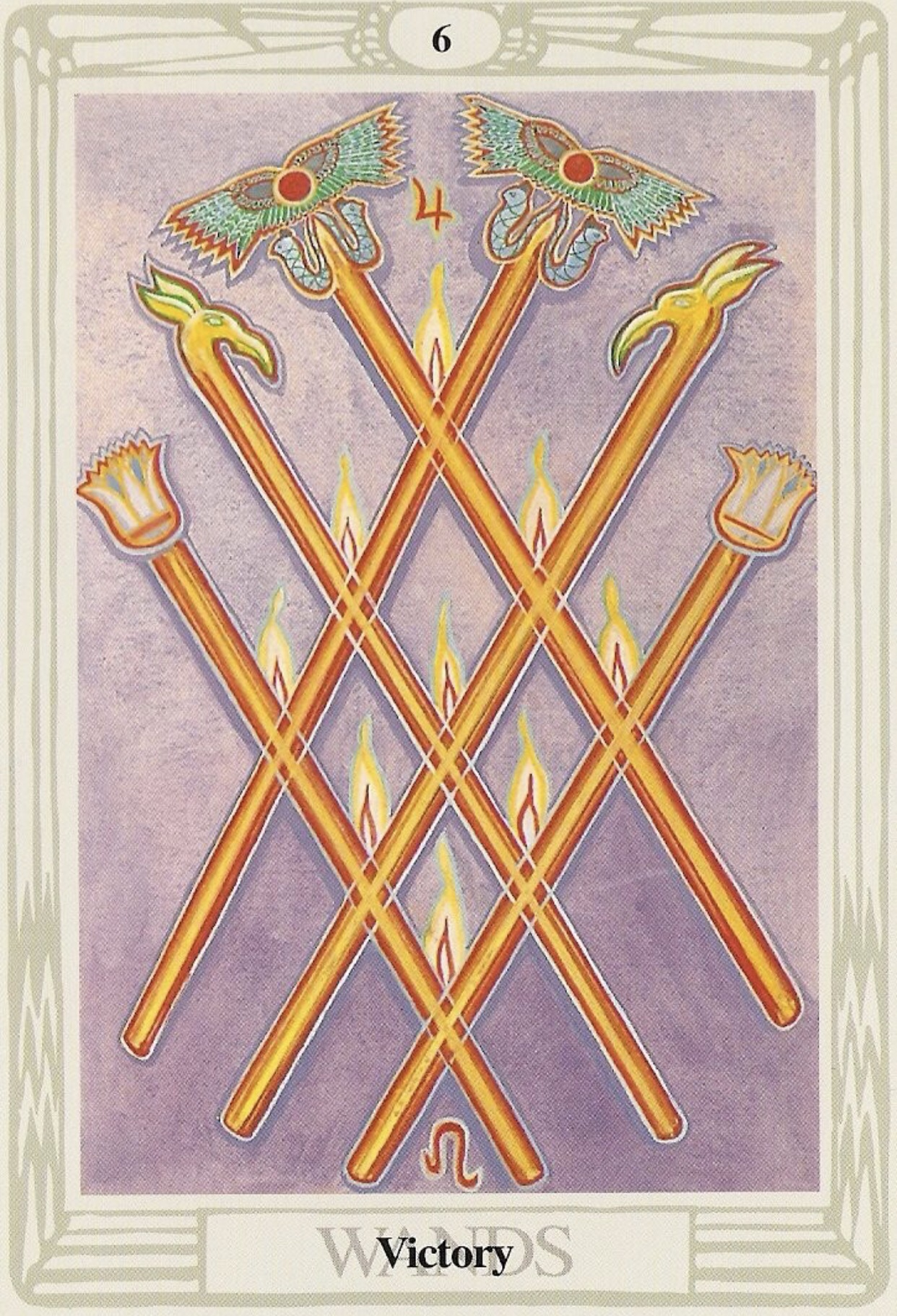 Retreat-victory card from the Thoth Tarot